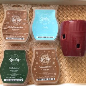 Scentsy Weave Scarlet warmer with 4 sets of bars!